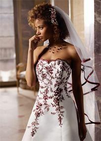 David's Bridal T8763r Black & White A-line Gown W/ An Wedding Dress $150