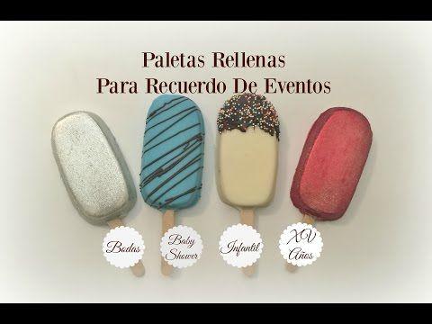 DIY PALETAS TIPO MAGNUM DE PASTEL Y CUPCAKES ARCOIRIS - ALIX Laguna - YouTube