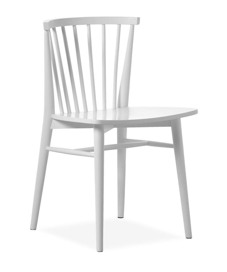 Viktor är en trendig stol i modern skandinavisk stil designad av dansken Morten Georgsen. Den är i vit- eller svartlackerat massivt gummiträ. Med sitt rundade ryggstöd får stolen en riktigt skön sittkomfort. Viktor passar bra till många utav våra moderna och skandinaviska matbord, men den kan även ställas på kontoret eller i ett barnrum vid skrivbordet.