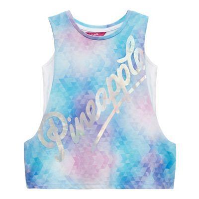 Pineapple Girls' multi-coloured two piece drop arm vest top | Debenhams