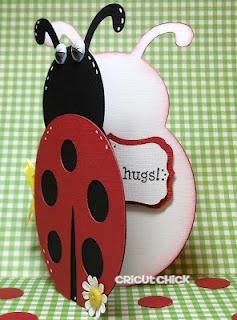 "ladybug card at 5"". Ladybug hugs"