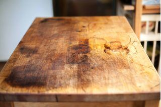 How to remove grease stains from a wood chopping block ehow good tips pinterest wood - How to remove grease stains from kitchen cabinets ...