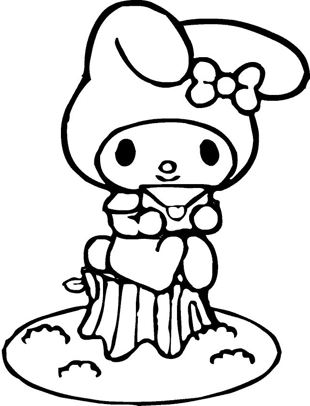 Hello Kitty And My Melody Coloring Pages : Melody my pinterest hello kitty sanrio and