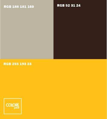 Abbinamento colori arancione chiaro grigio