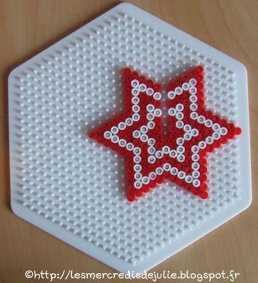 DIY 3D Christmas star hama perler beads by Les Mercredis de Julie