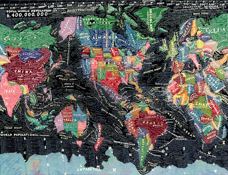 The World, by Paula Scher - 20x200 (from $60)