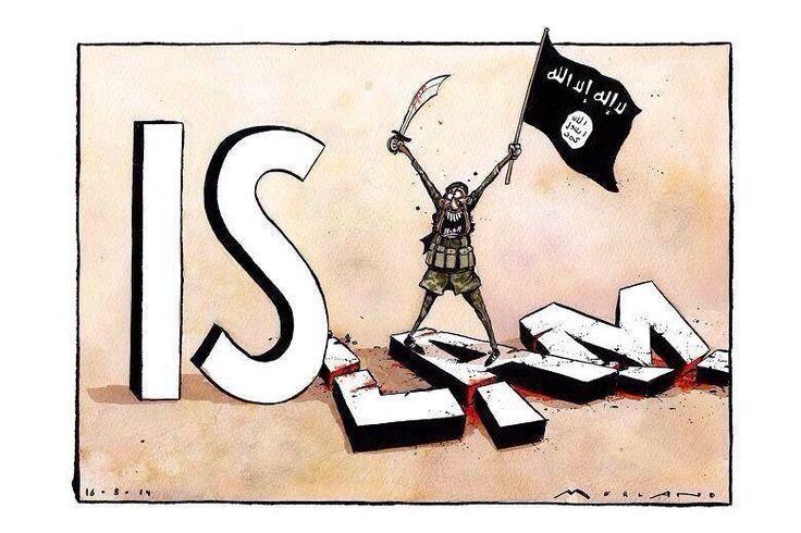 #IŞİD İslam'ın değerlerini de yok ediyor. Bu karikatür yaşananları çok güzel anlatıyor.