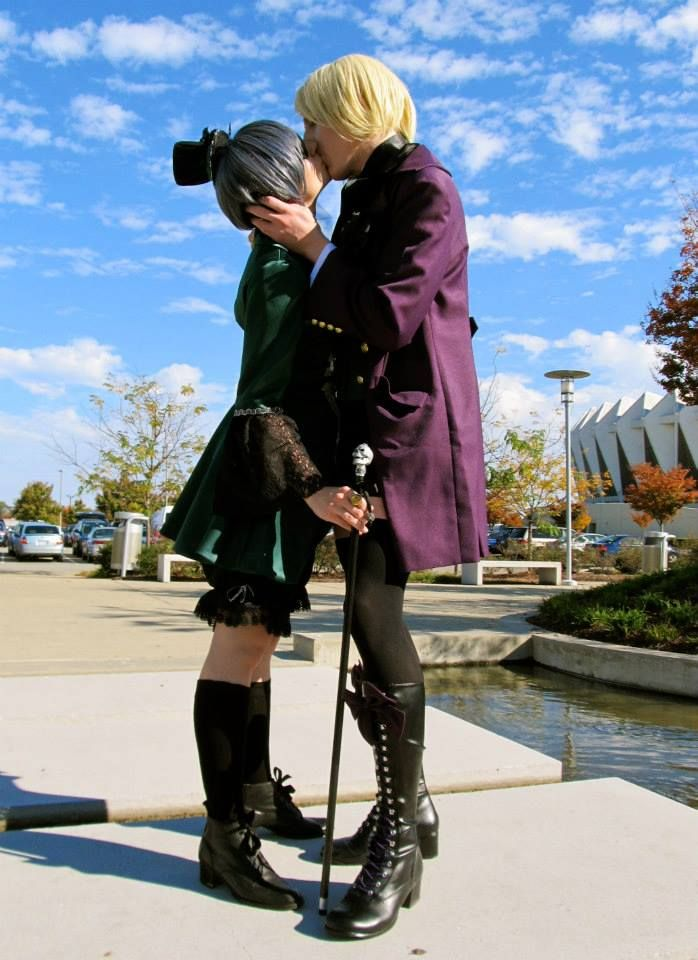 Ciel Phantomive and Alois Trancy: A Forced Kiss by KitcatCreations.deviantart.com on @deviantART