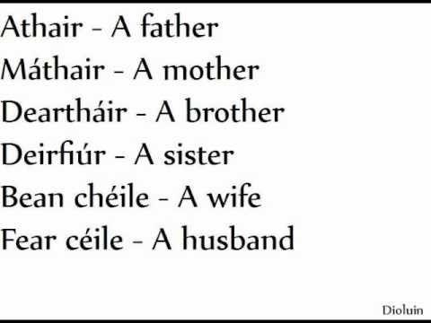 Easy Irish / Gaeilge Lesson 1/15. People.