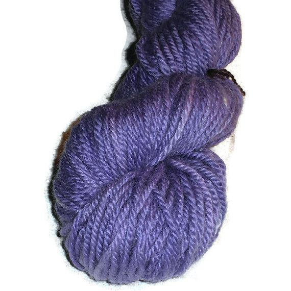 Chunky Yarn Handdyed Bluefaced Leicester Wool Chunky Weight Yarn, 4-ply, Lavender, Blueviolet Worsted Wool Yarn, Worsted Yarn, EU SELLER