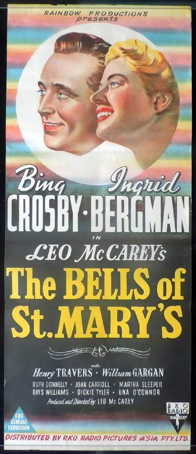 THE BELLS OF ST MARY'S Daybill Movie Poster Bing Crosby RKO