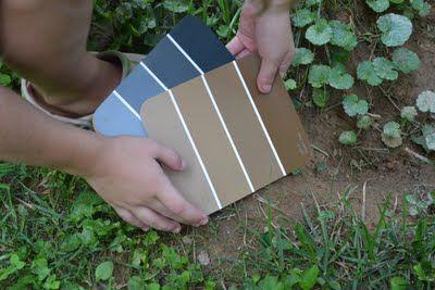 paint chip scavenger hunt for kids...now thats a cool idea!!