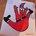 TUTO DIY - idée de dessin de Noël pour les enfants : faire un père noël avec le contour de sa main !!!  génial avec des enfants