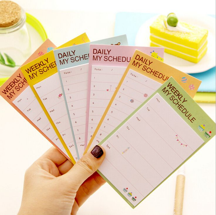 Self Adhesive Planner Stickers Weekly Plan Monthly Plan Check List Post It To Do List Memo Pad Office School Supplies
