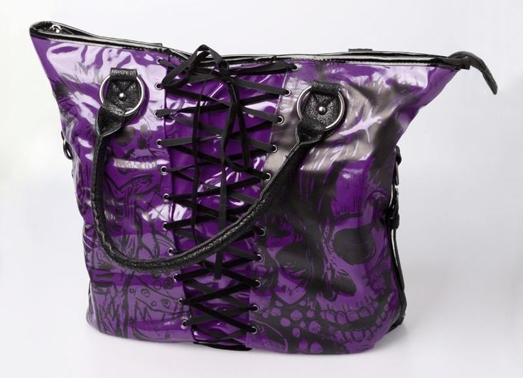 Iron Fist Ladies American Nightmare Authentic NWT VEGAN Purse Tote Goth Bag #IronFist #TotesShoppers