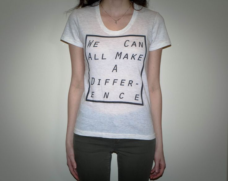 Women's Make A Difference Tee in white.  https://lotyslandclothing.com/products/womens-make-a-difference-tee