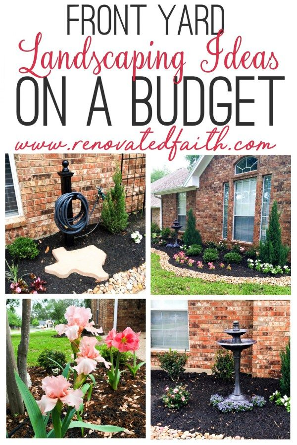 Simple Front Yard Landscaping Ideas On A Budget Diy Landscape Design Yard Landscaping Simple Budget Landscaping Front Yard