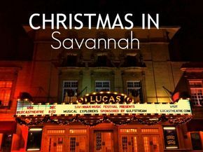 Christmas in Savannah, Georgia. A look at the decor.