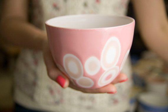 Porcelain bowl  kitchen bowl unique handmade by imkadesign on Etsy, $45.00