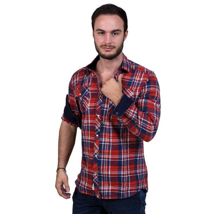 O'NEILL Ανδρικό καρό πουκάμισο πετσετέ, τσεπάκια