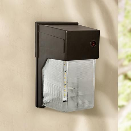 "Outdoor flood light $59 Lamps Plus Bronze 10 3/4""H Dusk to Dawn LED Outdoor Flood Light"