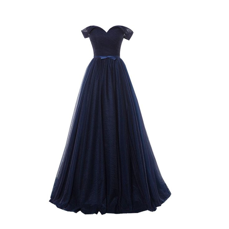 NINI.LADY Women's Off Shoulder Lace Up Back Bow-tie Tulle A Line Long Prom Dress Navy Blue US8. 1:Fabric:Tulle. 2:Decoration:Bow-tie. 3:The real color of the item may be different from the pictures shown on website caused by many factors such as brightness of your monitor and light brightness. 4:Custom made process (from the date we receive your payment and measurements) will take about 1-2 weeks.The the delivery time is about 5 days. the total time is about 20 days. 5:If you need a…