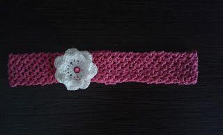 plektodimiourgies: Πλεκτή κορδέλα με λουλούδι