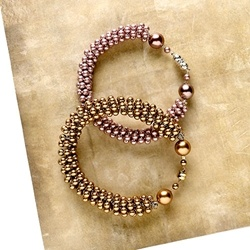 Coiled pearl cuff bracelet from Beadstyle.com