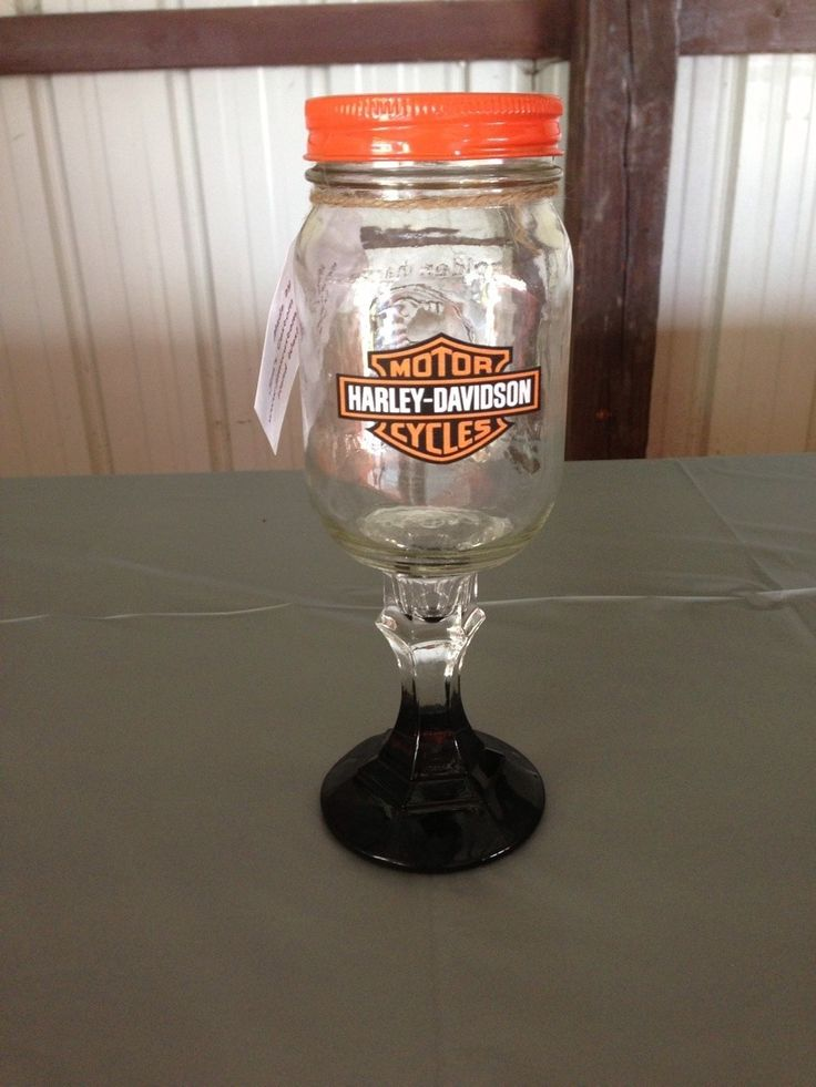 Glasses From Our Harley Themed Wedding Sweetheart Table