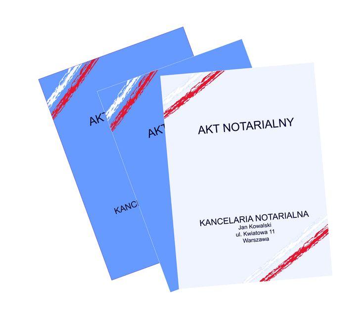 Specjalna oferta dla biur notarialnych. Projekty teczek w cenie druku. Druk teczek w dużych i małych nakładach.