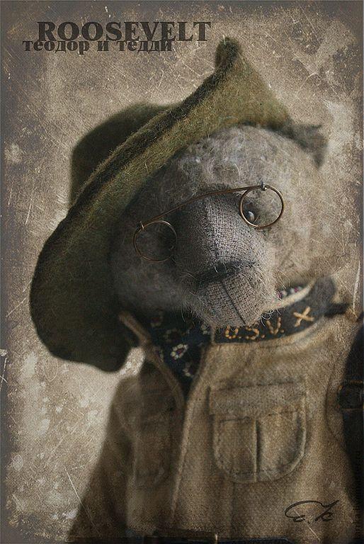 Купить Теодор Рузвельт и Тедди - хаки, тедди, президент, медведь, мишка…