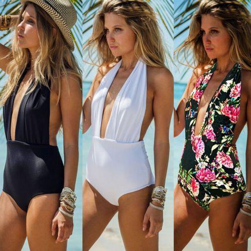 Sexy-Womens-Swimwear-One-Piece-Swimsuit-Monokini-Push-Up-Padded-Bikini-Bathing