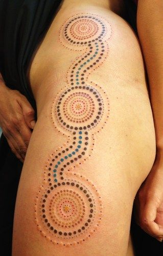 Tatulu's Tattoos, (Tattoo Lou) NSW Australia - Australian Aboriginal style tattoos