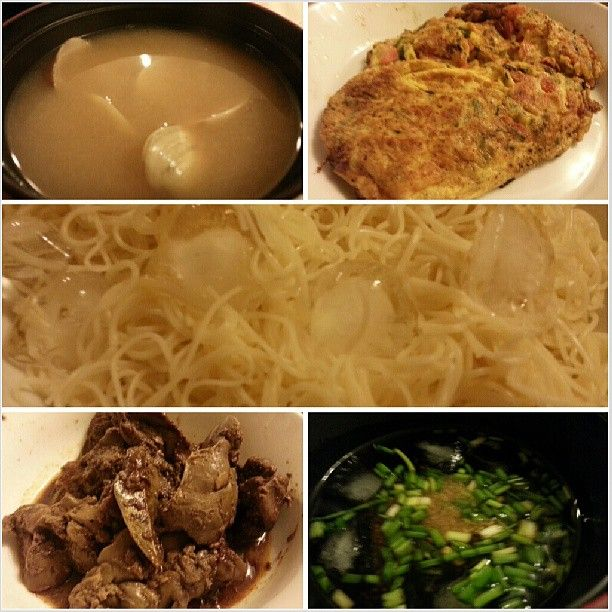 #clam #misosoup #tomato #omelette #soumen #cold #noodle #liver #adobo for #dinner #yummy #japanese and #filipino #food #cook #cooking #philippines #味噌汁 #トマト #オムレツ #そうめん #レバー #アドボ #フィリピン # 料理