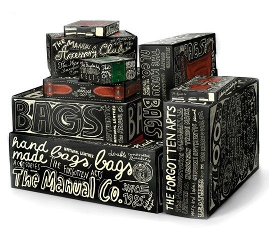 Unique lettering used in the eye-catching #packages