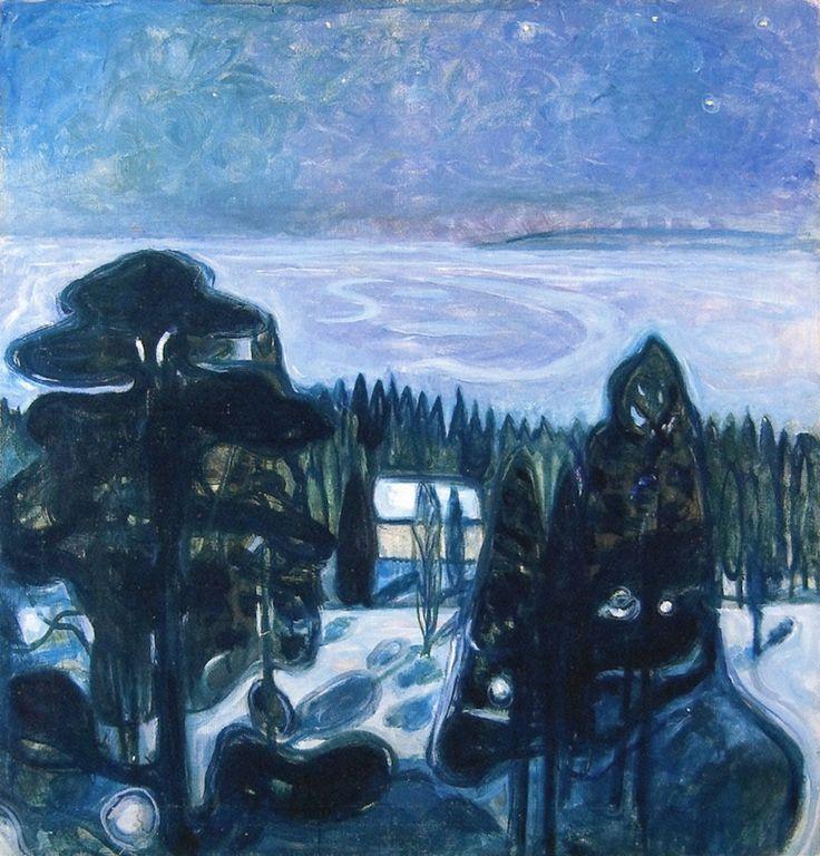 Edvard Munch (Norwegian 1863–1944) [Expressionism, Symbolism] White Night, 1900-1901.