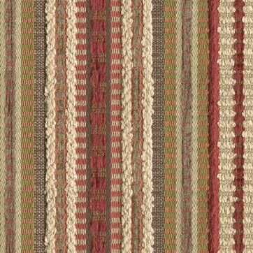Upholstery Brown Red Striped Chenille Patterned Thick Cotton Curtain Material