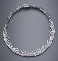Stefan Hafner diamond necklace. We carry him at Bay Hill! It's like swan feathers, but in diamonds. Amazing