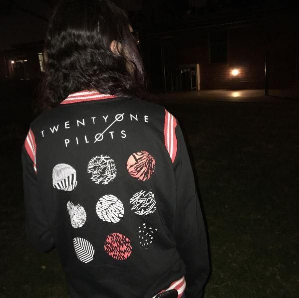 Wish we could turn back time // Twenty One Pilots Logo Girls Varsity Jacket