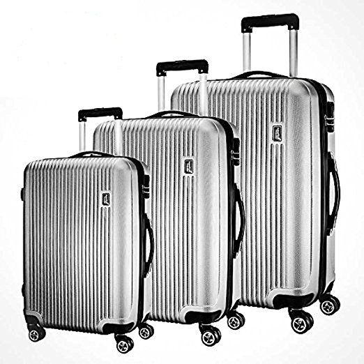 fd0922e534b5 3 Piece Luggage Set by American Traveler - Lightweight, Anti-scratch ...