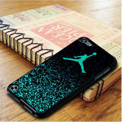 Air Jordan Jump Mint Glitter Glitter iPod 6 Touch Case