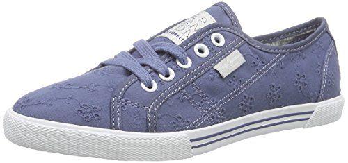 Pepe Jeans London ABERLADY ANGLAISE, Damen Sneakers, Blau (588OCEAN), 41 EU - http://geschirrkaufen.online/pepe-jeans/pepe-jeans-london-aberlady-anglaise-damen-blau-41