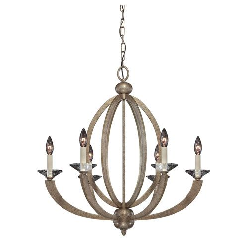 Forum Gold Dust Six Light Chandelier Savoy House Candles Without Shades Chandeliers Ceiling - entry