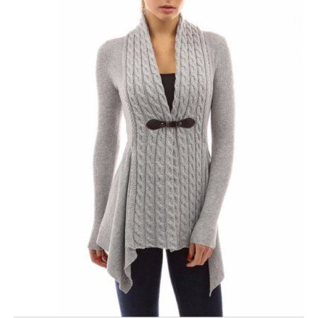 (size medium beige) Fashion Knitted Sweater For Women Slim V-neck Long Sleeve Cardigan