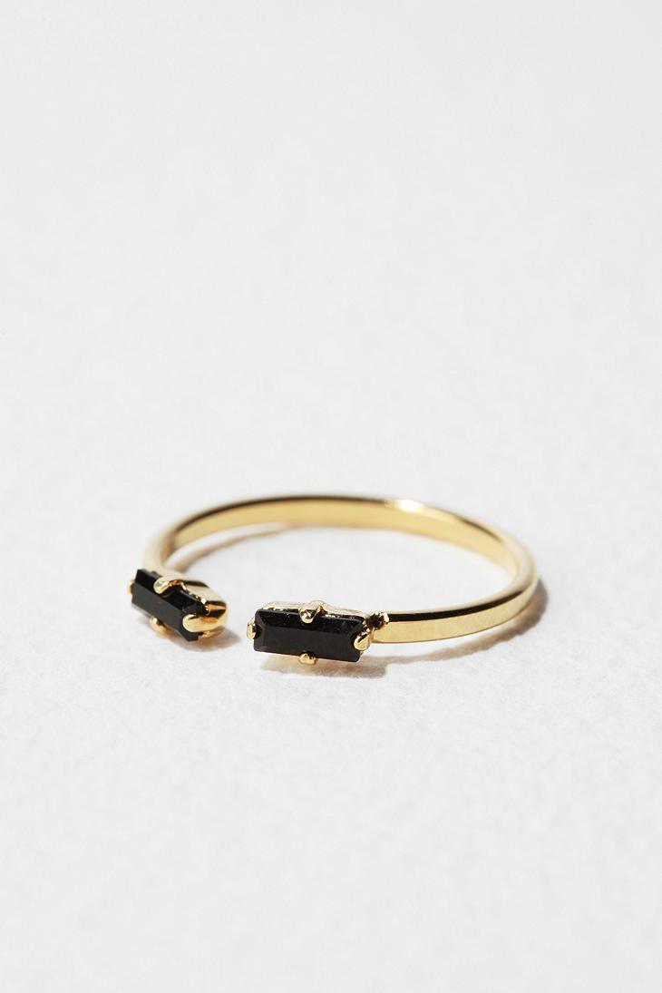 Viveka Bergstrom Black Microcrystals Ring  Online Only  $60.00