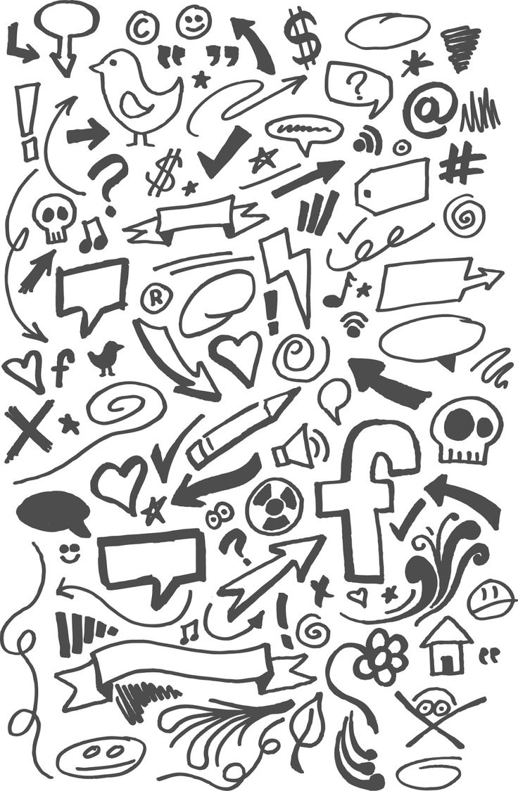 Garabatos a mano alzada en vector (Vector Hand Doodles) | Recursos 2D.com