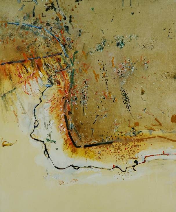 Dry creek bed, Werribee Gorge I | Fred Williams | 1977