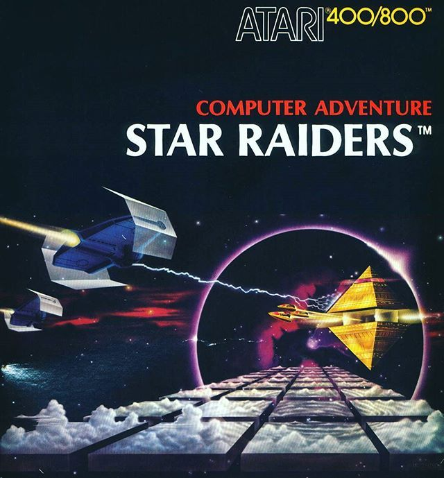 "WEBSTA @favoritevideogamessince71 Star Raiders (1979 Computer Game For Atari 8-Bit Family). The game simulates combat in 3D between the player's powerful ship and an invading fleet of alien ""Zylon"" vessels. Star Raiders was distinctive for its graphics, which (under most conditions) represented an out-the-cockpit, first-person view from a fictional combat spaceship traveling through a streaming 3D starfield in pursuit of enemy spacecraft."