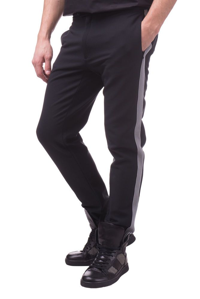1848bdac610c EMPORIO ARMANI EA7 Trousers Size M Stretch Stirrup Cuffs Made in Italy RRP  340  fashion  clothing  shoes  accessories  mensclothing  pants (ebay link)