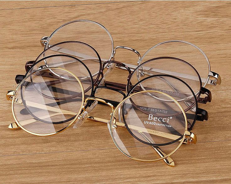 New Fashion Vintage Round Circle Eyeglasses Frame Myopia Glasses Optical Rx able